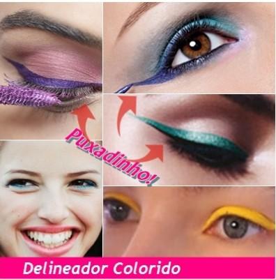 Delineador-colorido make carnaval