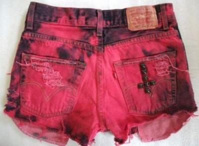 tie dye shors vermelho