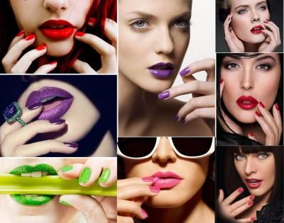 combinar cor do batom com cor das unhas