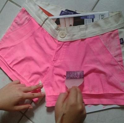 shorts oncinha passo a passo7