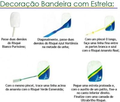 unha_decorada Copa Brasil com bandeira