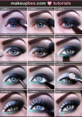 Tutorial maquiagem olhos azuis e verdes