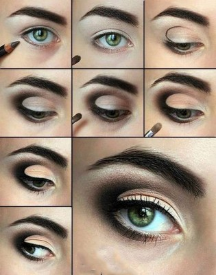 Tutorial maquiagem olhos esfumados