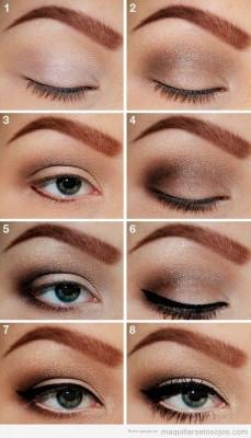 Tutorial-paso-a-paso-maquillaje-ojos-marro-ahumado-eyeliner-negro