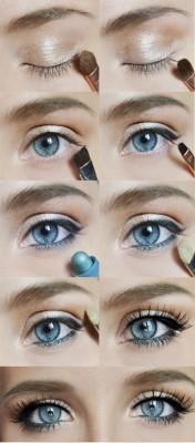 maquiagem olhos azuis