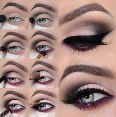 maquiagem olhos esfumados