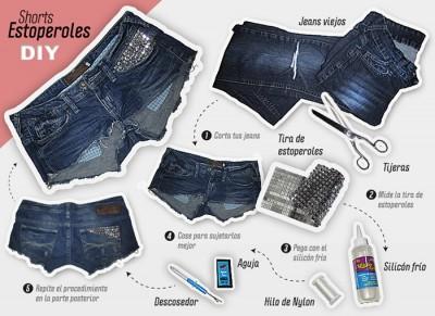 shorts com tachinhas passo a passo