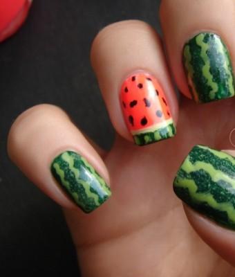 watermelon-nails