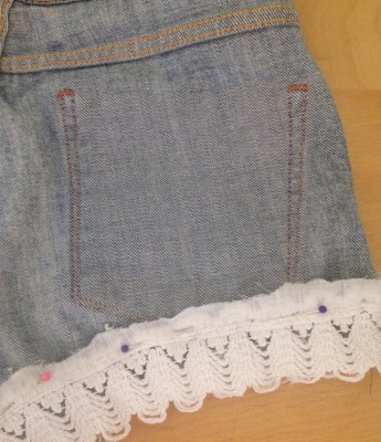 DIY Shorts Denim Crochet