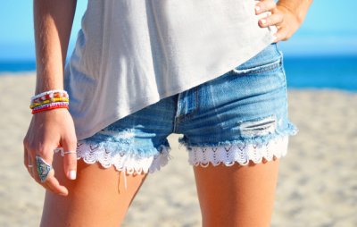 DIY Shorts Denim Crochet3