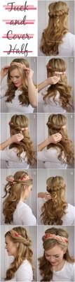 penteado com bandana