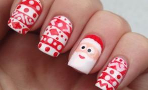 unhas decoradas natal