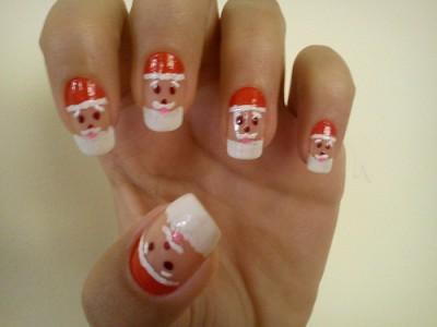 unhas decoradas papai noel