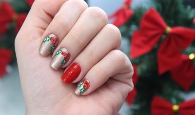 unhas decoradas para natal