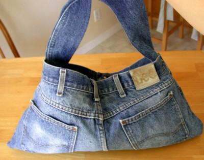 bolsa em jeans