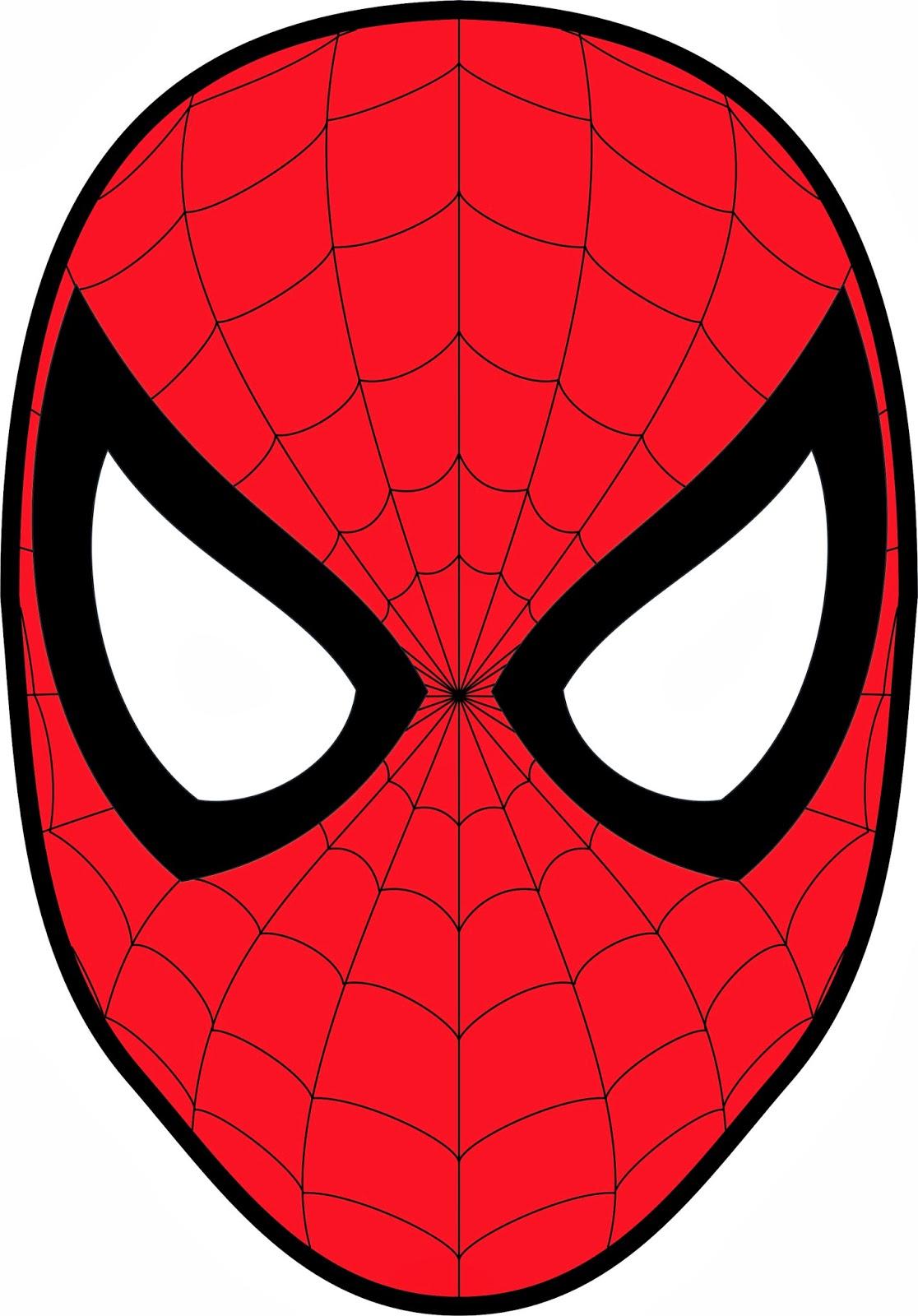 Как сделать маску человека паука черного