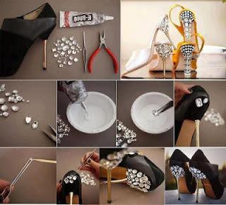 Customizar sapato salto