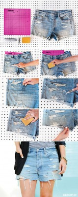 diy shorts rasgados