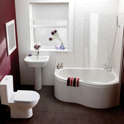 branco no banheiro
