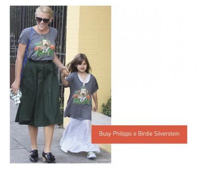 Busy-Philipps-e-Birdie-Silverstein-look-mae-e-filha-combinando