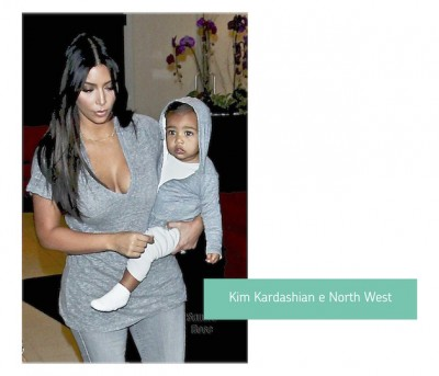 Kim-Kardashian-e-Noth-Wes-look-mae-e-filha-combinando