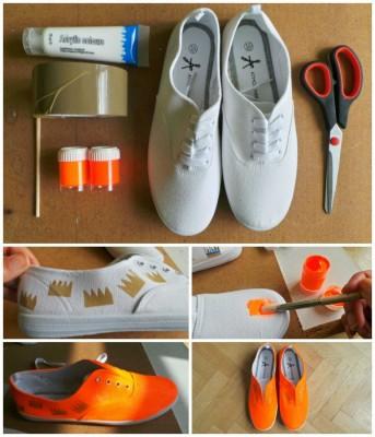 DIY-Sneakers néon