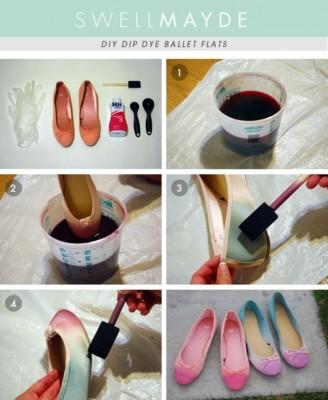 diy sapatos ballet