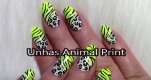 Unhas Animal Print