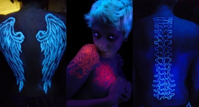 tatoos que brilha no escuro