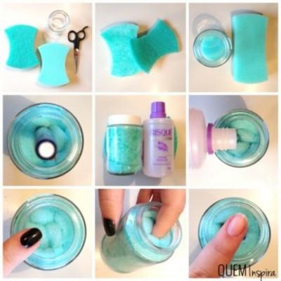esponja removedora de esmalte