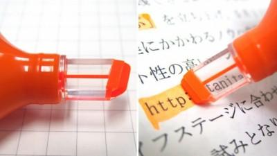 marcador com janela transparente