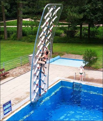 parede escalada para piscina