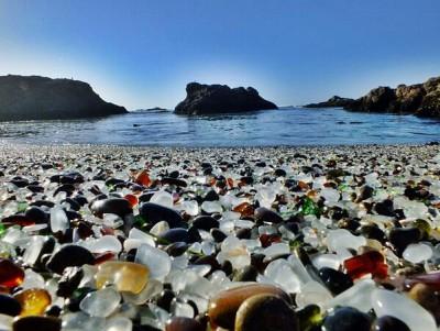 praia de vidro california