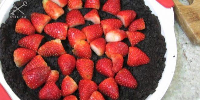 Torta de Morango, Chocolate e Oreo