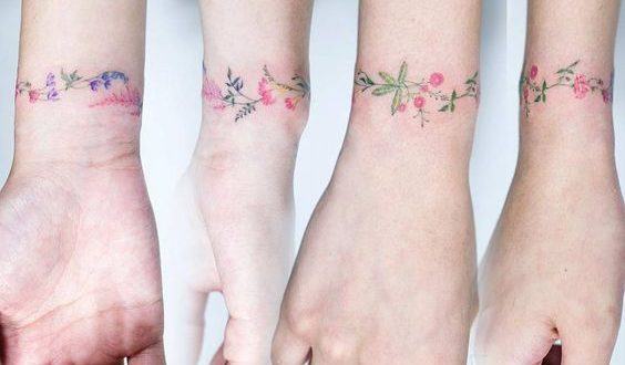 15 Tatuagens Florais delicadas